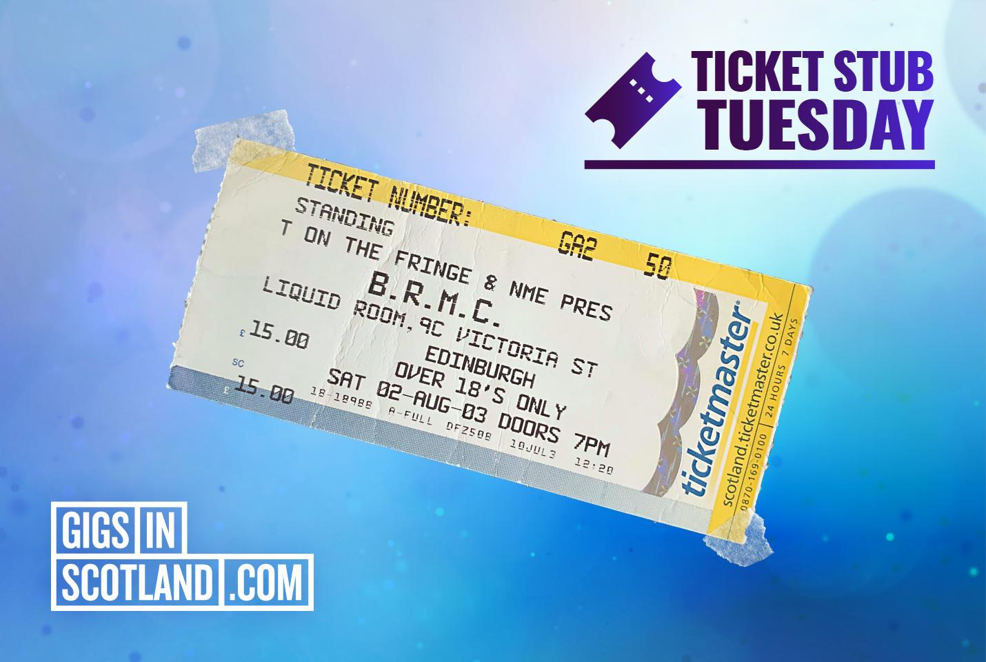 Ticket Stub Tuesday - Black Rebel Motorcycle Club