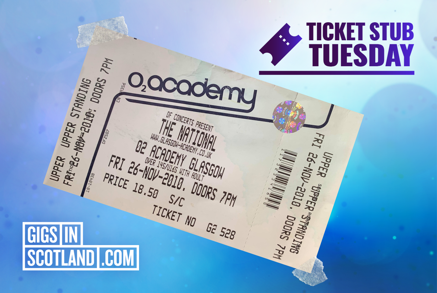 Ticket Stub Tuesday - The National