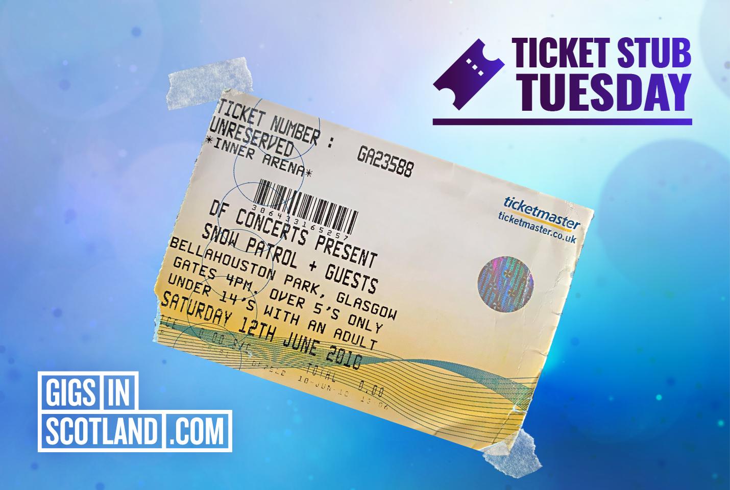 Ticket Stub Tuesday - Snow Patrol