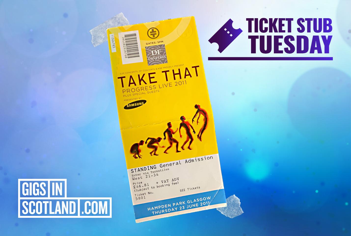 Ticket Stub Tuesday - Take That