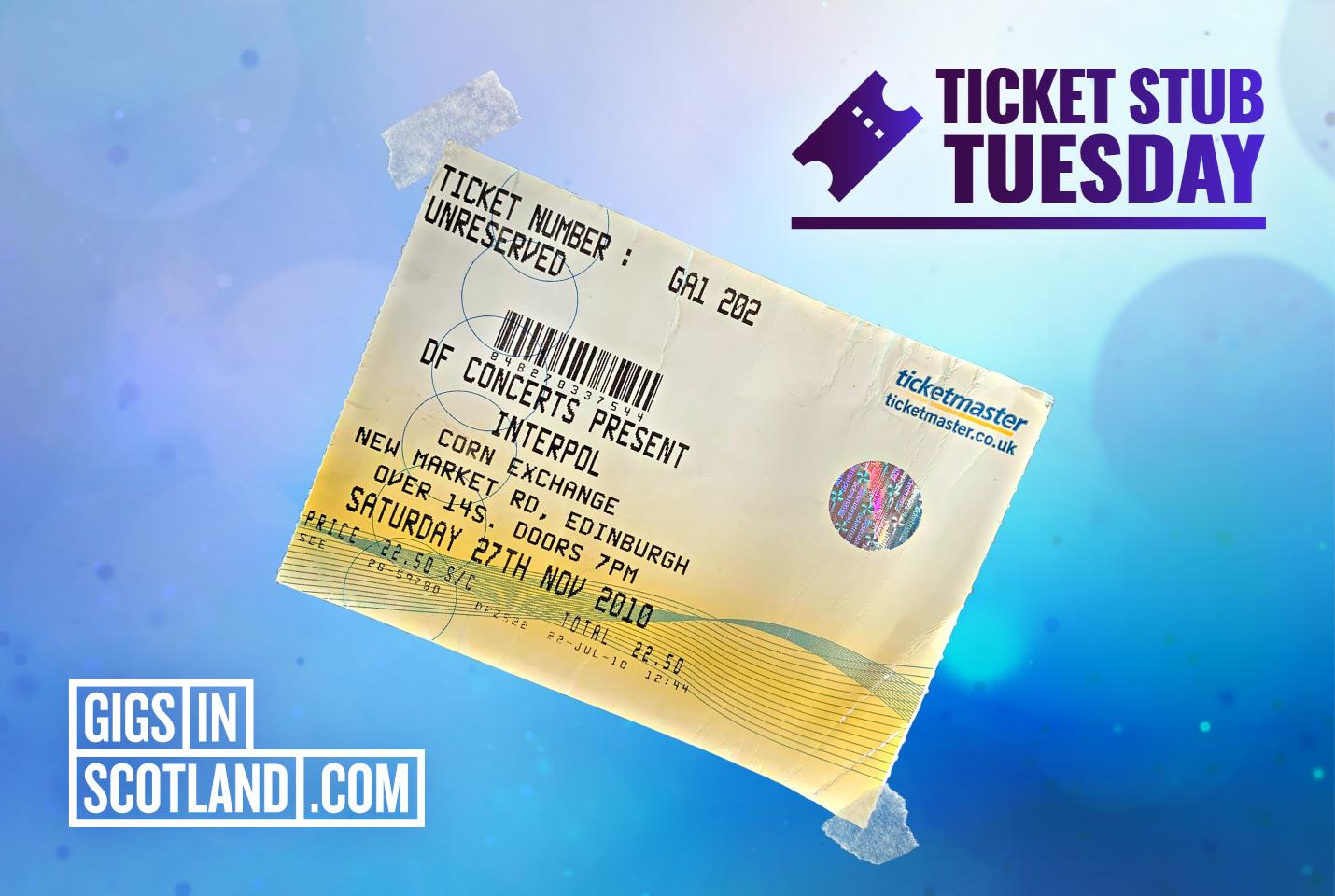 Ticket Stub Tuesday - Interpol