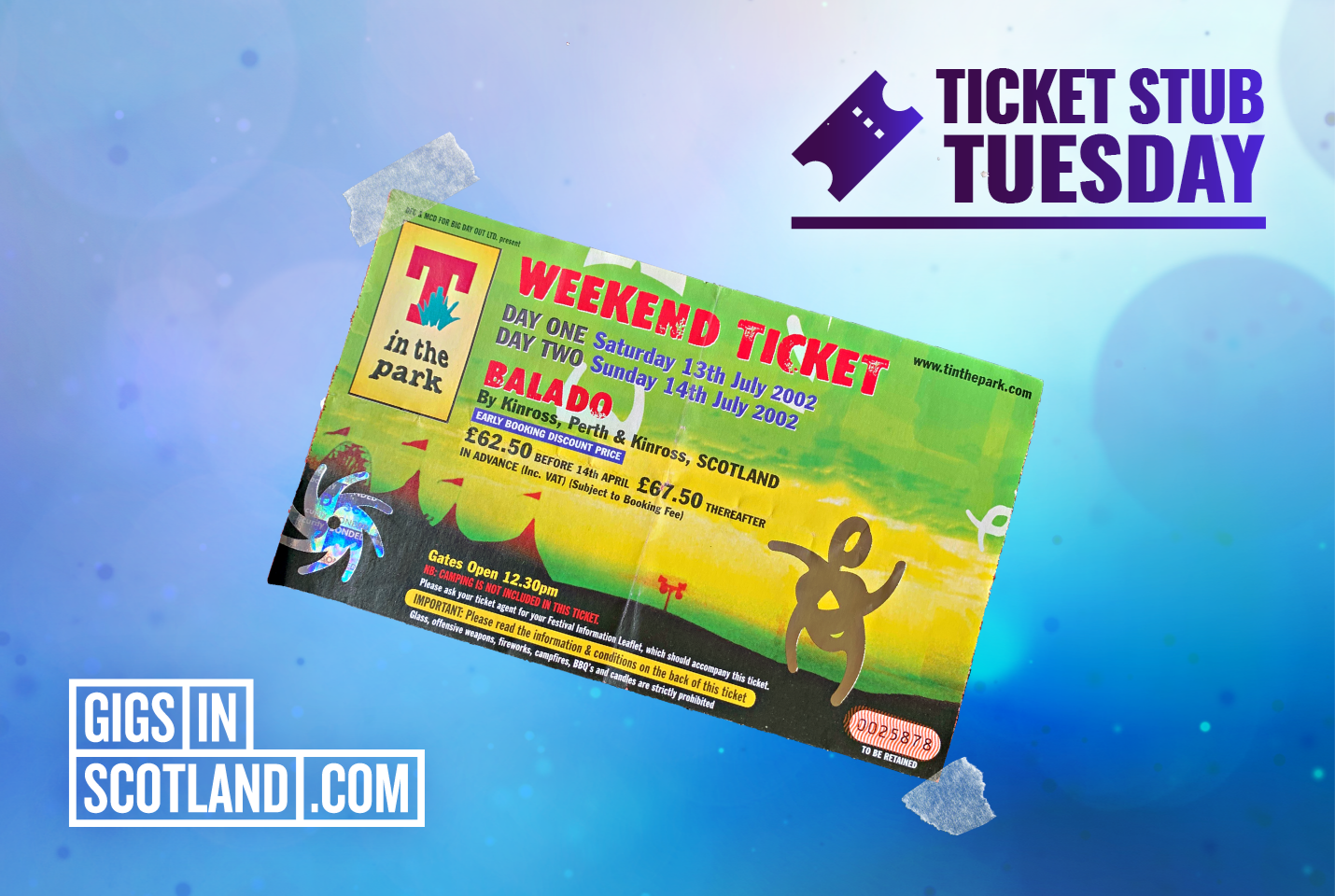 Ticket Stub Tuesday - T In The Park 2002