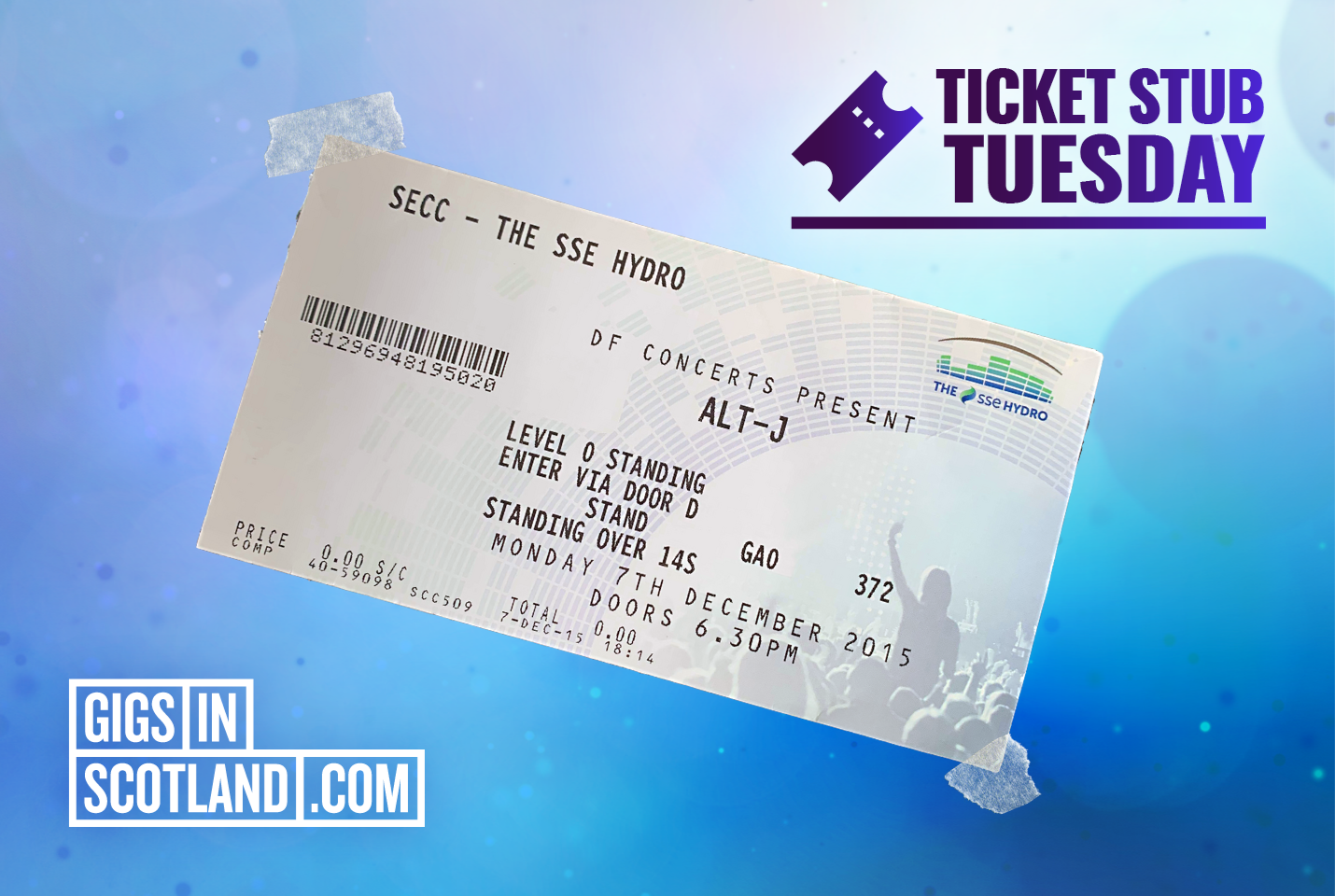 Ticket Stub Tuesday - Alt-J