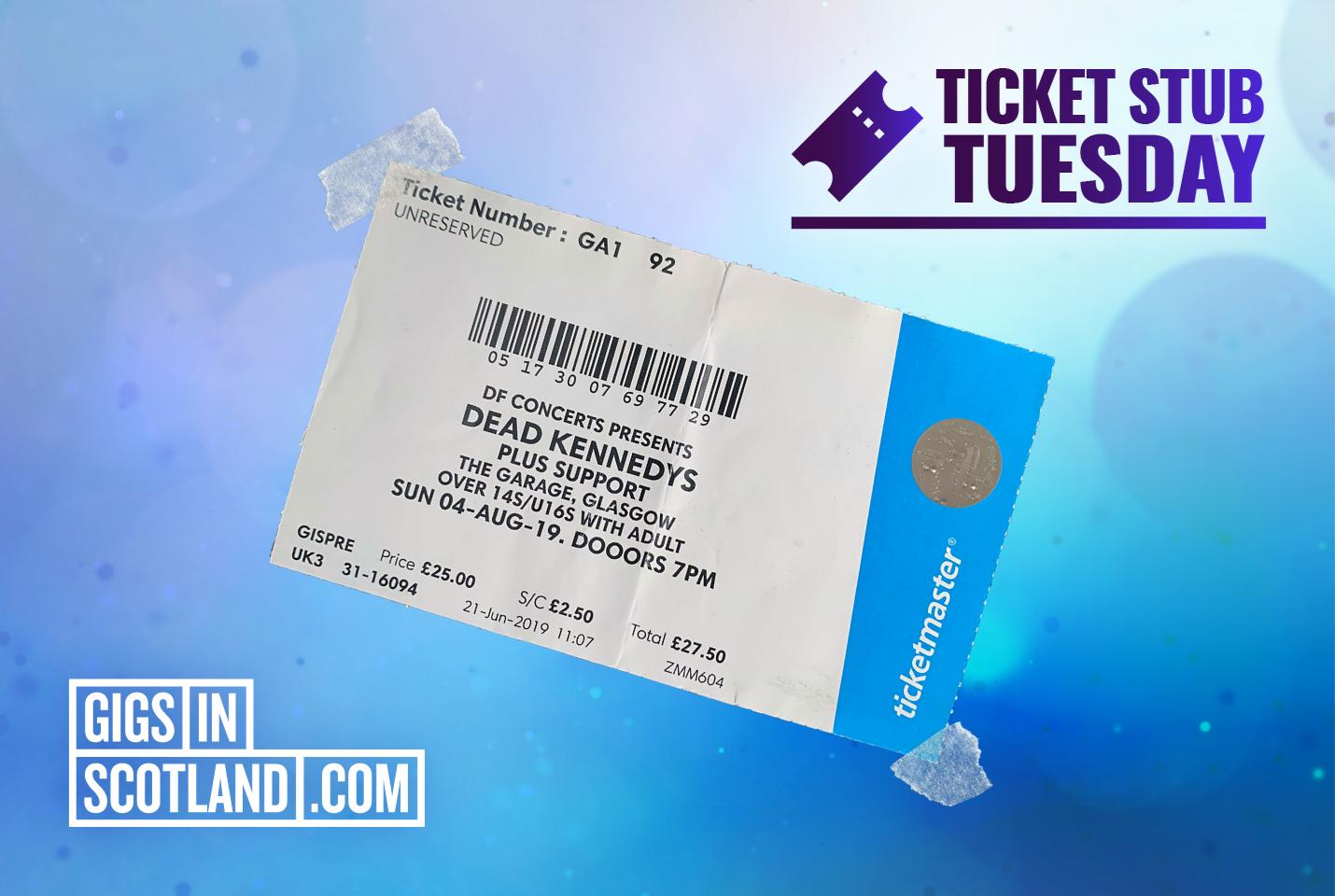 Ticket Stub Tuesday - Dead Kennedys