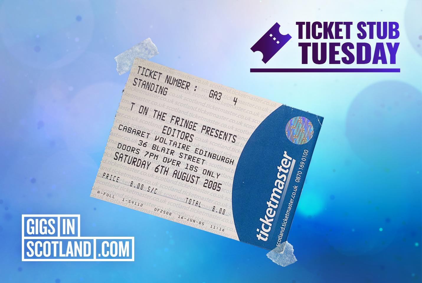 Ticket Stub Tuesday - Editors